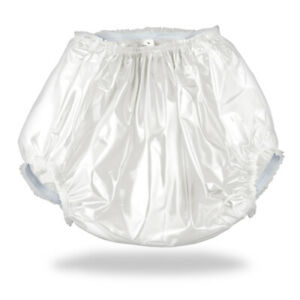 White Plastic Pants Adult Diaper & Nappy Cover