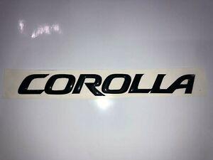 Corolla logo Gel Relieve, sticker Gel, Relieve decals, Toyota Corolla