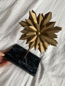 GOLD starburst mid century DECOR BOOKCASE knickknack