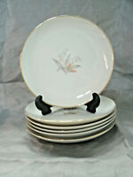 "Vtg Kaysons GOLDEN RHAPSODY Set of 6-6+"" Bread Dessert Plates Fine China Japan"