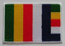 * Iron On Patch * Nepalese Made * 9.1 x 6.2 cm * Buddhist Flag