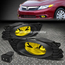 FOR 2012 HONDA CIVIC SEDAN FRONT BUMPER DRIVING FOG LIGHT LAMPS W/BEZEL+SWITCH