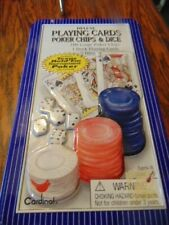 Poker Chips & Dice in a Tin with Playing Cards