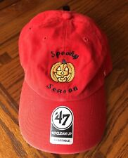 Halloween Hat Custom Spooky Season Pumpkin 🎃 '47 Strapback Baseball Dad Cap NWT