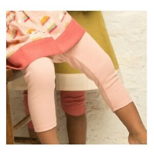 Little Green Radicals Organic Cotton Pale Pink Frill Leggings 2 3 4 5 6 7 8