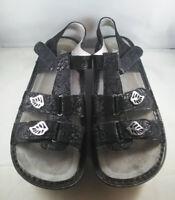 Alegria Kleo Black Leaf Kle-676 Sandals Size 41 Excellent