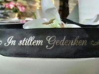 3m In stillem Gedenken Trauerbinde Trauerschleife 40mm Trauerband Trauerschmuck