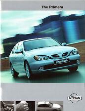 Nissan Primera 2001 UK Market Sales Brochure E S Sport SE Sport+ SE+