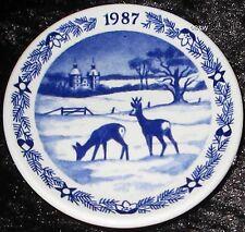 1987 Royal Copenhagen Fayence MINI PIATTO DI NATALE/CHRISTMAS PLAQUETTE
