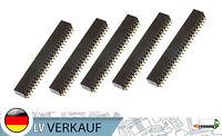 5Stk Horizontal 2x24Pin 2,54mm pitch Buchsenleiste für SMD Prototyping Arduino