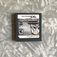 Transformers War for Cybertron Decepticons Nintendo DS Cartridge Clean & Tested