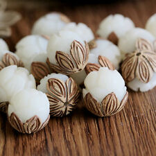 1x Charm Bodhi Seed Tibetan Buddhist Prayer Carve Lotus Beads for Jewelry Making