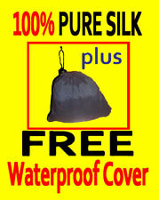 100% PURE SILK Sleeping Bag Liner & WATERPROOF COVER-Jungle -perfect for hunting