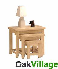 Oakworth Oak Nest of Tables / Living Room Furniture / Nest of 3 Tables / Solid