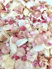 Biodegradable Dried Real Wedding Confetti Flower Petals Pink ROSE GOLD, Ivory