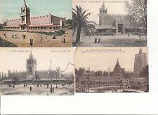Lot 4 cartes postales anciennes MARSEILLE EXPO COLONIALE afrique occidentale
