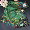 "WOMEN 100%MULBERRY SILK 41""SQUARE SCARF SHAWL FLORAL PRINT #100204 HAND ROLLED"