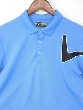 Callaway Opti Dri Blue Big Logo M Medium Golf Polo Free Shipping