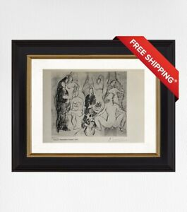 Pablo Picasso 1958 Original Print, Hand Signed with Certificate of Authenticity