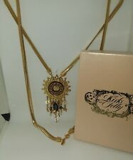 Early Kirks Folly Zodiac Celestial Sun Libra  Long Necklace BRAND NEW NEVER WORN
