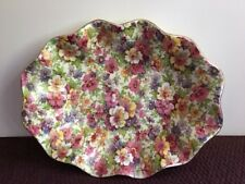 "CHINTZ VINTAGE JAMES KENT DU BARRY LONGTON 8"" OVAL SHALLOW FOLD BOWL ~RARE~"