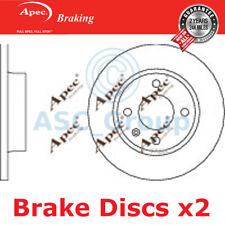 2 X Apec BRAKING 236mm Solide Original Qualität Ersatz Bremsscheiben ( Paar