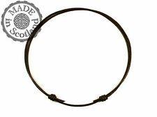 2mm BROWN LEATHER DOUBLE SURFER CHOKER ADJUSTABLE NECKLACE TRIBAL GOTH EMO STYLE