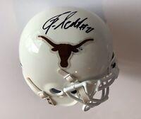 Jonathan Scott signed Texas Longhorns mini helmet 2005 national champs schutt