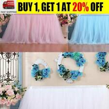 Tutu Tulle Table Skirt Tableware Table Cloth Cover Home Wedding/Party Decor CZ