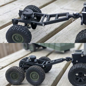 3D Printed 1/16 5th Wheel Dolly Bogie Trailer Coupling WPL JJRC RC Trucks