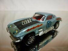 CORGI TOYS 337 CHEVROLET CORVETTE STINGRAY LAZY BONES #13 - BLUE 1:43 - GOOD