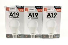 LEDPAX Technology A19D-27-6 Led Light Bulb Pack, Dimmable, Warm White