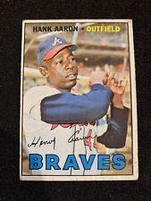 New listing 1967 Topps #250 Hank Aaron VG