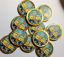 16 x Personalised Minions Thank You  Milk Chocolate Birthday Gold Coins
