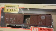 Train Miniature HO Seaboard Air Line 40' Outside Braced Wood Boxcar Kit, NIB