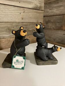 NWT Trilogy Bookends By Jeff Fleming Part of the Bearfoot Bear collection