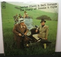 LESTER FLATT EARL SCRUGGS STORY OF BONNIE & CLYDE (VG+) CS-9649 LP VINYL RECORD