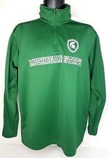 Columbia Men's Michigan State Spartans Sweater Pullover 1/4 Zip Jacket Large