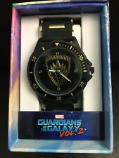 The Guardians of the Galaxy 2 Black & Gold Bullet Style Band Watch New/VHTF