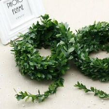 7.5M Silk Garland Green Leaf Iron Wire Artificial Flower For DIY Wreath Flowers