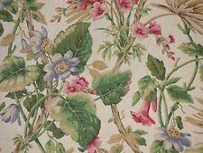 P Kaufmann Tropical Floral Foliage Print GREEN Home Decor Drapery Sewing Fabric