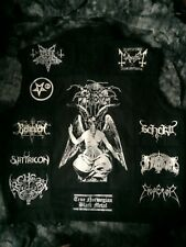 Black Metal Battle Jacket Cut-Off Denim Vest Darkthrone Bathory Taake Gorgoroth