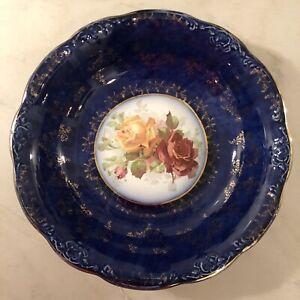 Vintage Cobalt Blue Advertising Bowl for Drake & Hersey Furniture, Boston  1920s