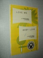 JEAN SAINT PAUL PARTITION MUSICALE BELGIQUE BABY LOVE LOVE ME