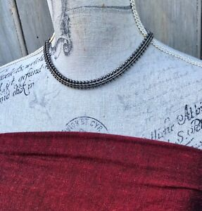 Indian silver snake necklace - quality vintage - bohemian, tribal