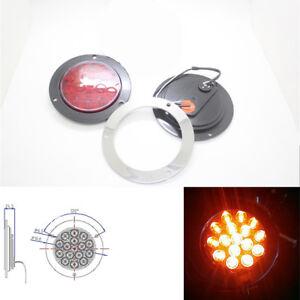 Red LED Tail Light 12V-24V Round Back-up Reverse Lamp For Truck Trailer RV Round