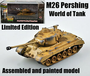 WWII US M26 Pershing Tank of world limited edition 1:72 no diecast Easy Model