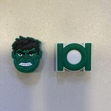 2 Schuhpins - Shoe Charms - Anstecker für Clogs Crogs Superhelden Hulk