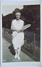 MALLORY MOLLA ORIGINAL VINTAGE 1920's PHOTOGRAPHIC TENNIS POSTCARD