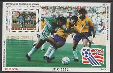 Bolivia 7087 - 1994 FOOTBALL  SPECIMEN m/sheet opt'd MUESTRA unmounted mint